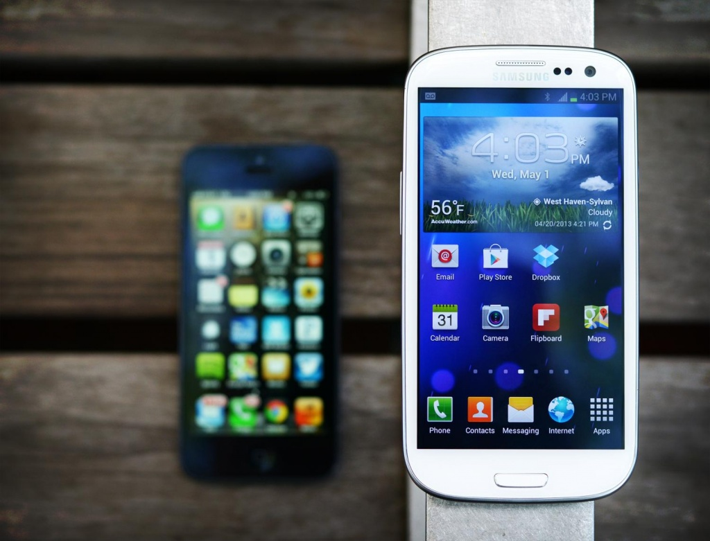 Смартфоны на платформе системы Android и IOS