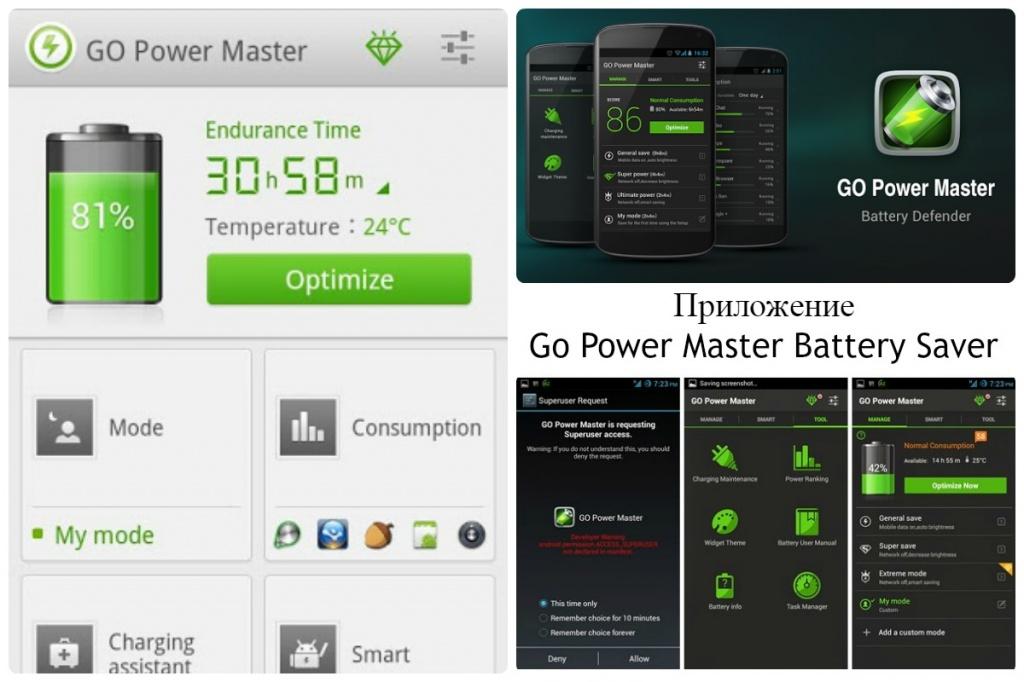 Приложение Go Power Master Battery Saver
