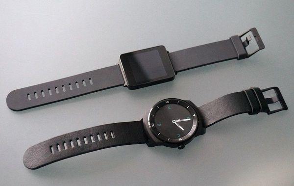 LG G Watch R и его предшественник