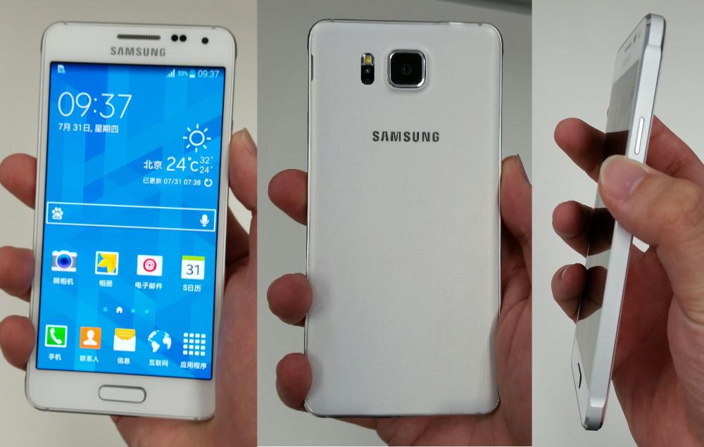Дизайн Samsung Galaxy Alpha