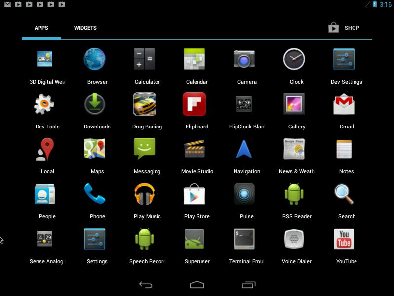 Интерфейс ОС Android