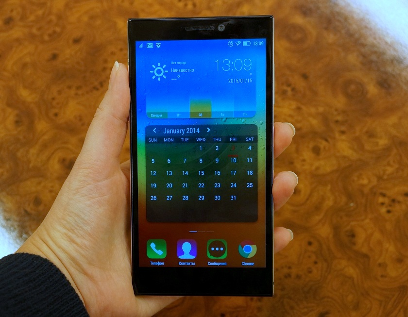 Дисплей android-смартфона Lenovo Vibe Z2