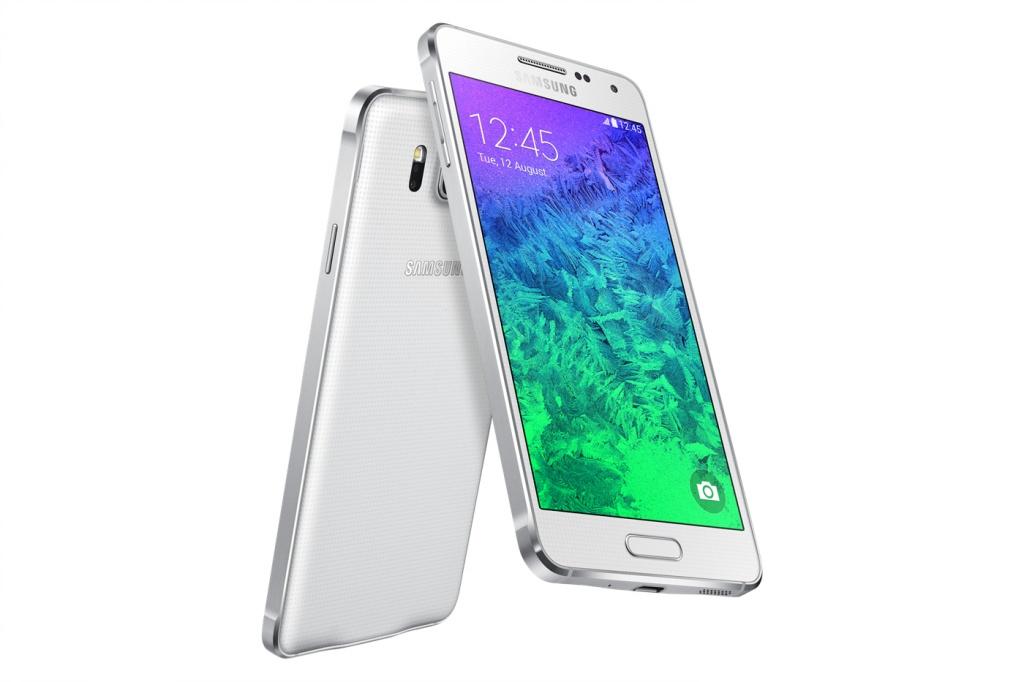 Вид сзади и спереди Samsung Galaxy Alpha