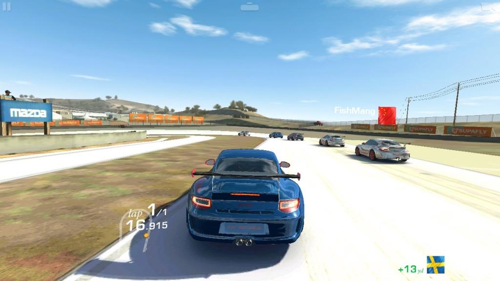 Игровой процесс автомобильного симулятора