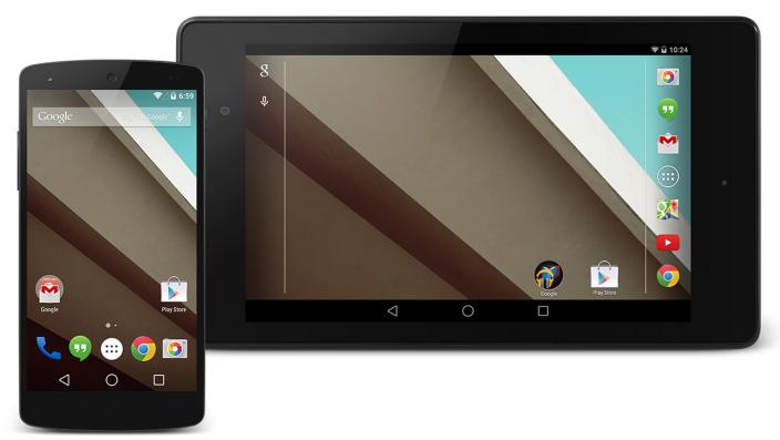 Интерфейс Android L