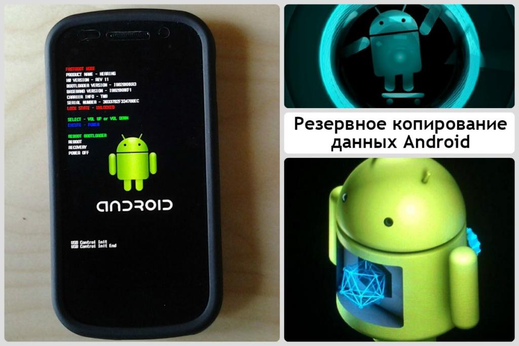 Резервное копирование данных Android